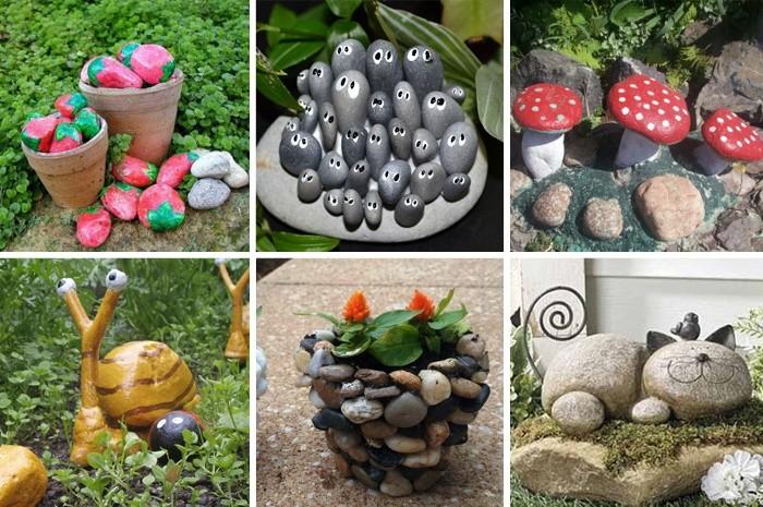 Дизайн сада и огорода своими руками: веселые камешки