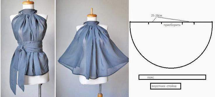 Выкройки блузок для начинающих (8)