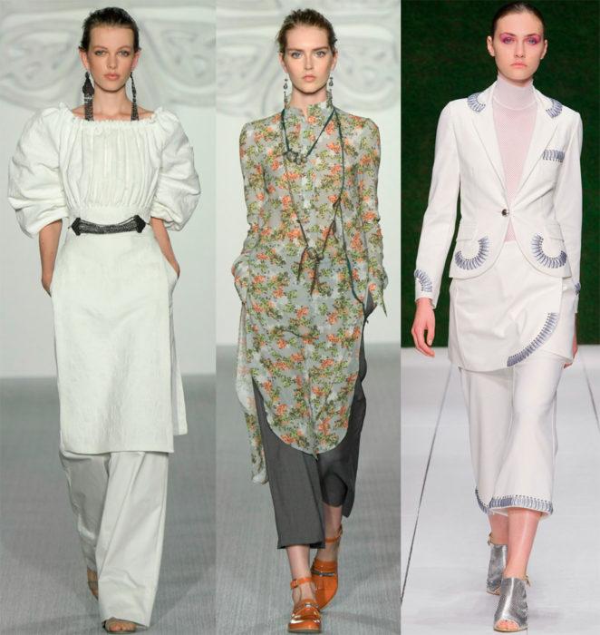 Мода весна лето 2017 тенденции: платье с брюками
