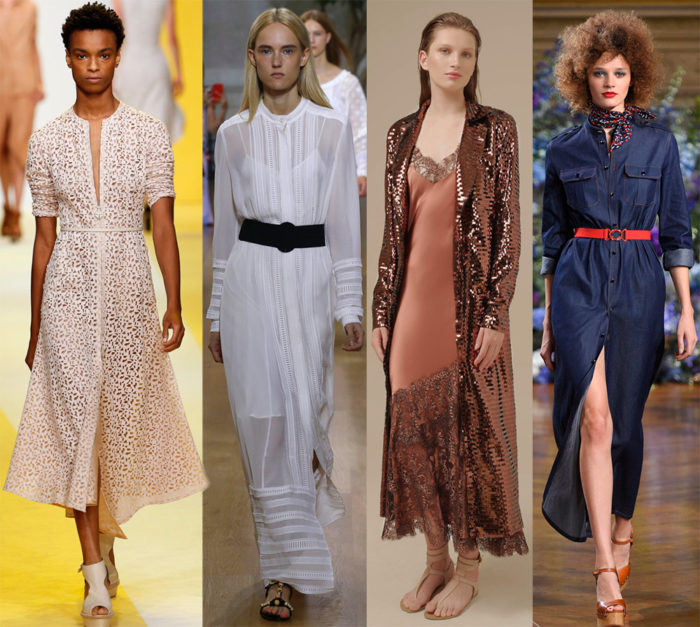Мода весна лето 2017 тенденции: платье-халат