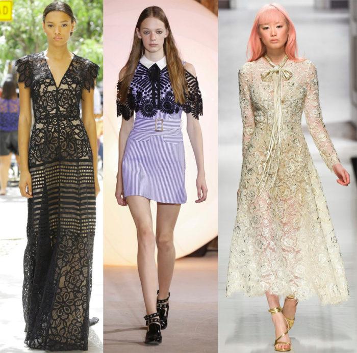 Мода 2017 года фото: платье с кружевом