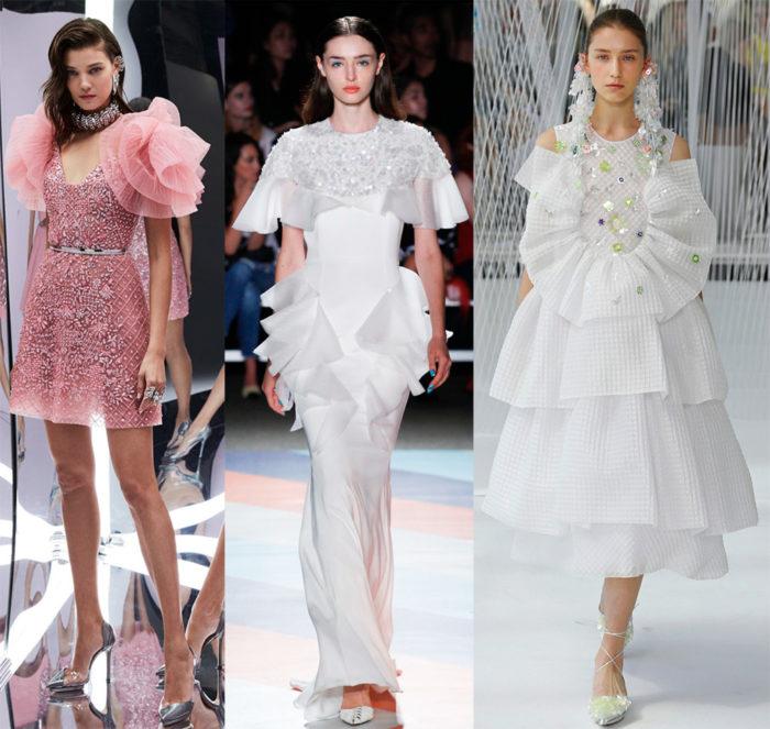Мода 2017 года фото: одежда с рюшами