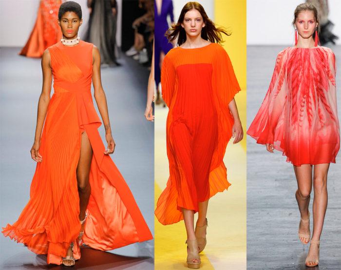 Модные цвета 2017 года: оранжевый