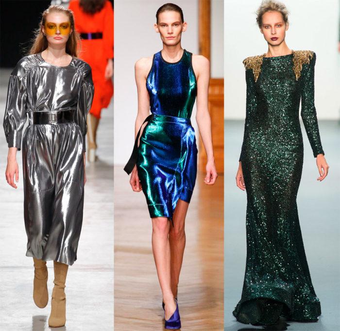 Мода весна лето 2017 тенденции: платья металлик