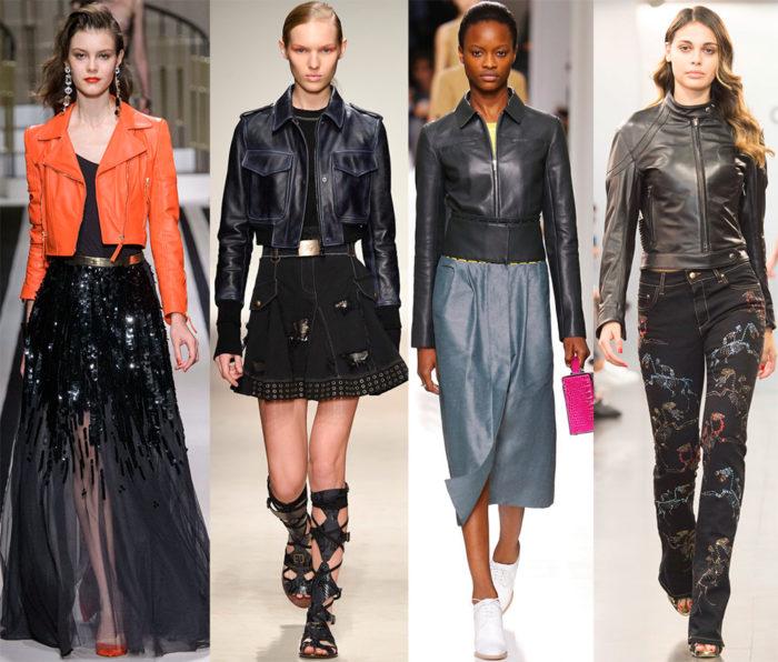 Мода 2017 года фото курток: укороченные модели