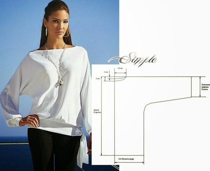 Выкройки блузок для начинающих (7)