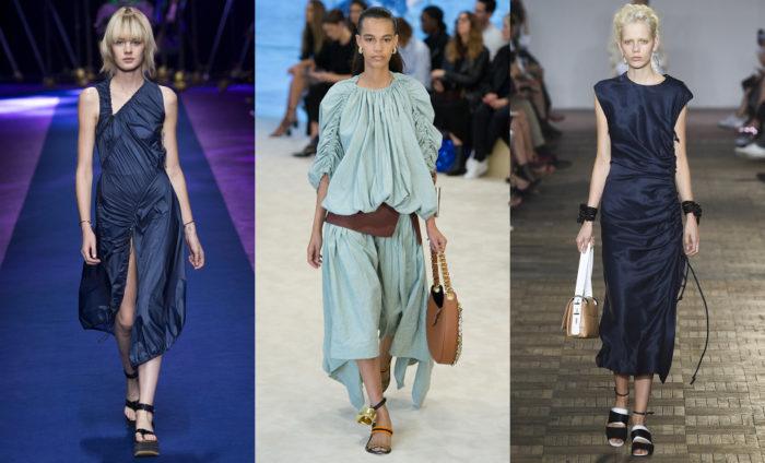 Мода 2017 года фото: одежда с драпировкой