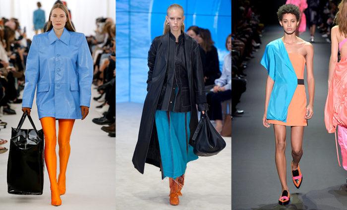 Модные цвета 2017 года: оранжевый и голубой