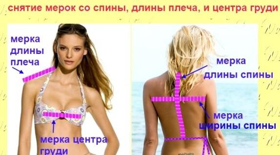 Построение выкройки платьев для начинающих: мерки спины и плеча
