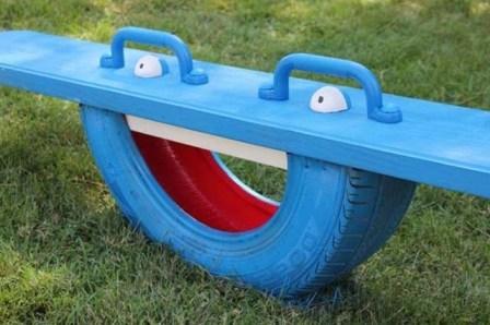 Дизайн сада и огорода своими руками: качель для детей