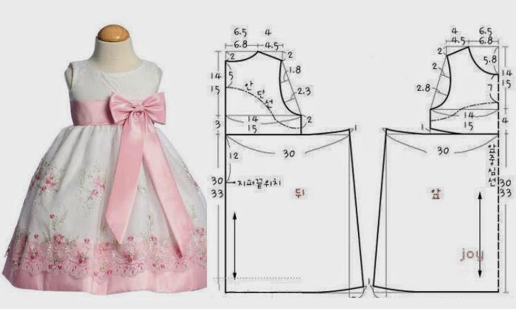 Выкройки детских платьев: нарядное платье
