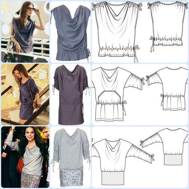 Выкройки блузок для начинающих (4)