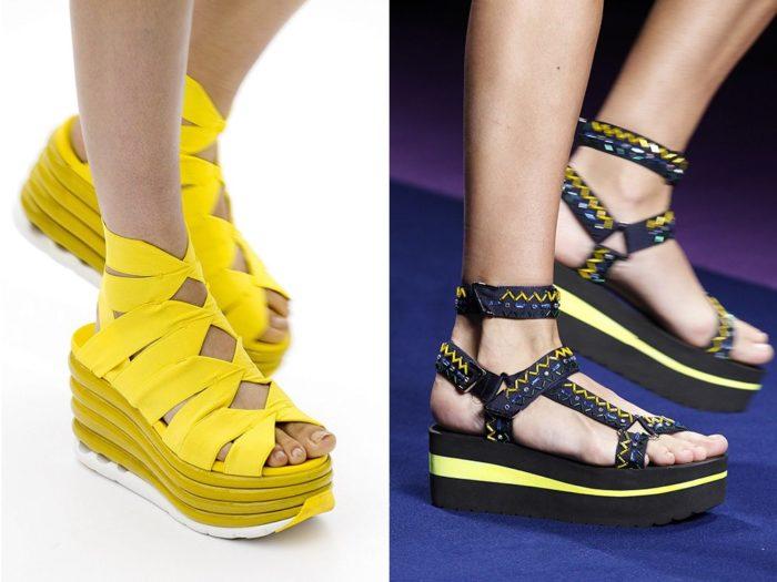 Модная обувь весна-лето 2017: босоножки на платформе
