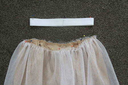 Как сшить юбку в пол из фатина: шаг 2