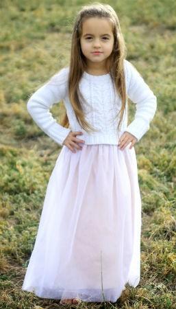 Как сшить юбку из фатина: длинная модель для девочки
