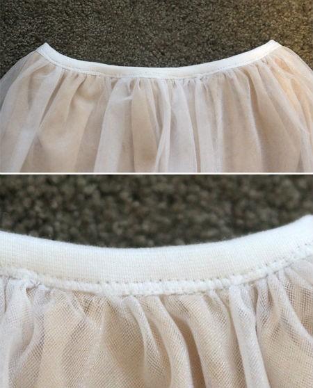 Как сшить юбку в пол из фатина: шаг 4