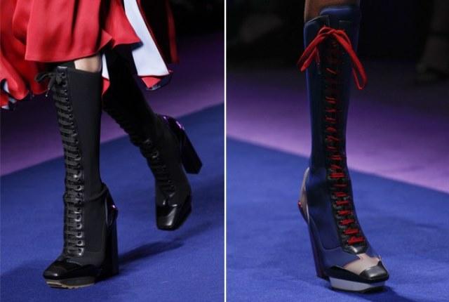 Модные женские ботинки на весну 2017: на шнуровке