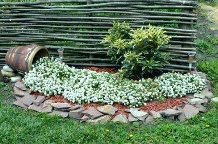 Дизайн сада и огорода своими руками: цветник-ручей