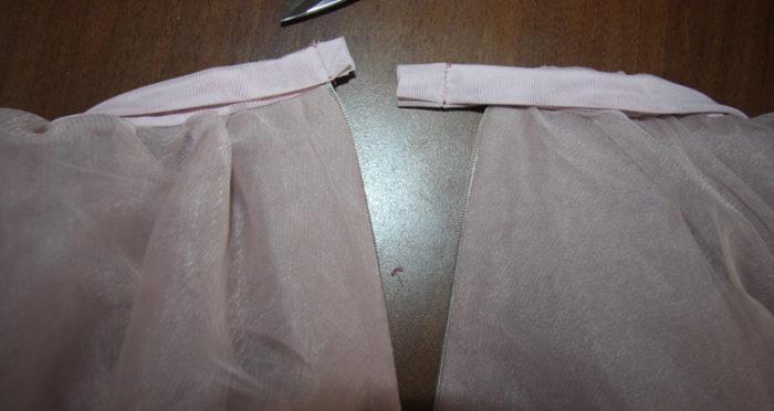 Юбка из фатина своими руками: прошиваем концы юбки