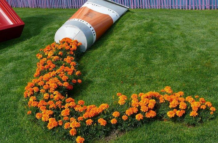 Цветочный ручей на даче