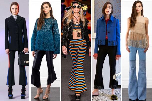 Мода 2017 года фото брюк-клеш