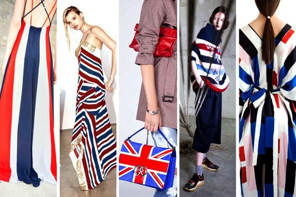 Модные цвета 2017 года: синий, красный, белый