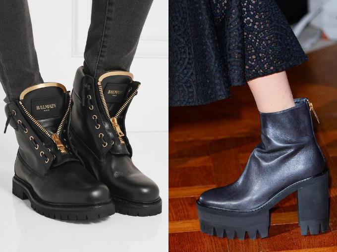 Модные женские ботинки на весну 2017: мотоботы на платформе