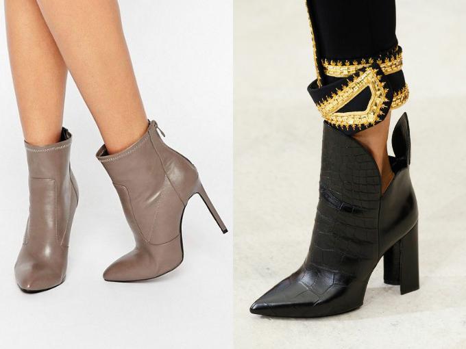 Модные женские ботинки на весну 2017: ботильйоны на каблуке