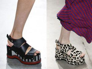 Модная обувь весна-лето 2017 : босоножки с платформой