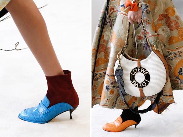 Модные женские ботинки на весну 2017: комбинированные полусапожки