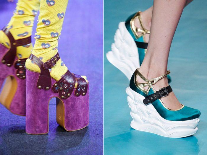 Модная обувь весна-лето 2017: платформа