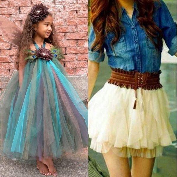 Модные цвета 2017 года: платье и юбка для девочек