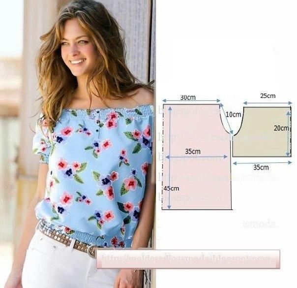 Выкройки блузок для начинающих (2)