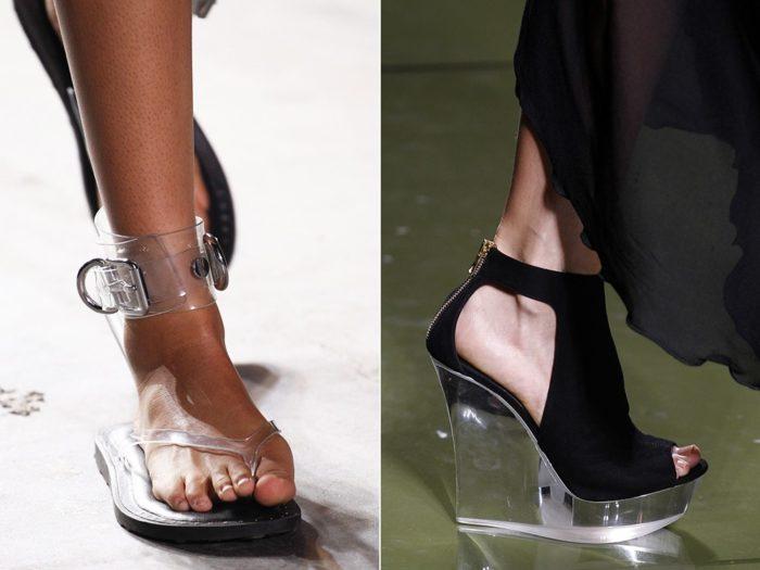 Модная обувь весна-лето 2017: прозрачные элементы