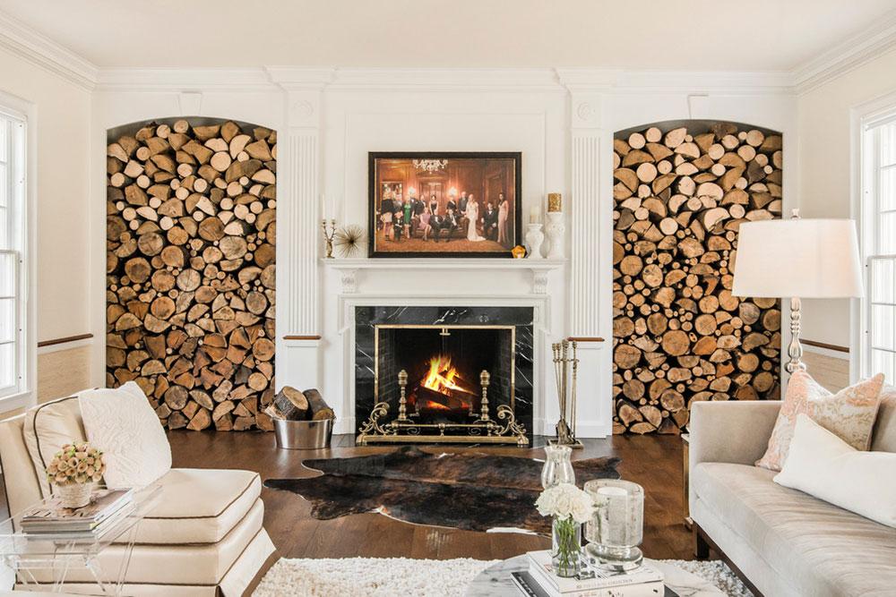 Как использовать дрова в интерьере?