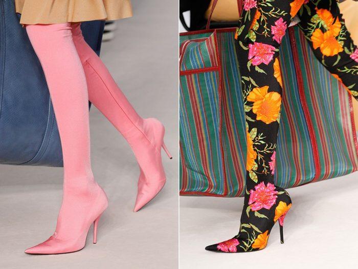 Модная обувь весна-лето 2017: сапоги-чулки