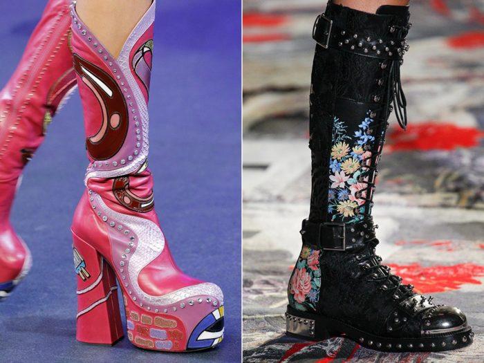 Модные женские ботинки на весну 2017: рисунок и декор