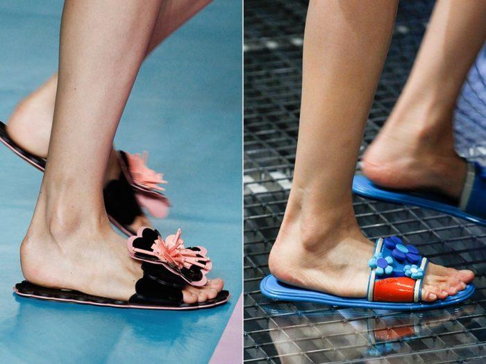 Модная обувь весна-лето 2017: шлепанцы для пляжа