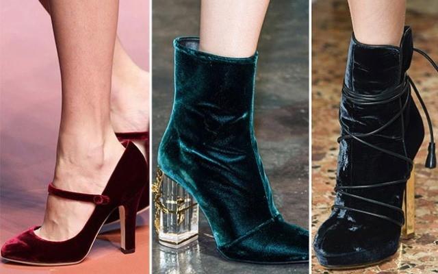 Модная обувь весна-лето 2017: бархатные ботинки и туфли