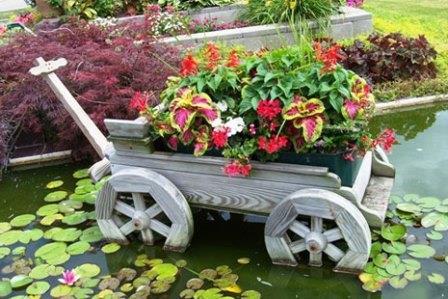 Дизайн сада и огорода своими руками: телега