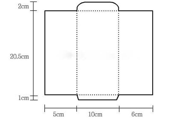 Как сделать конверт из бумаги: шаблон №2