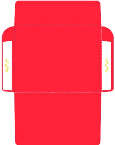 Как сделать конверт из бумаги: шаблон №3