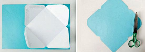 Как сделать конверт из бумаги: шаг 1