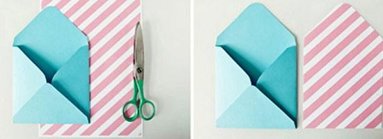 Как сделать конверт из бумаги: шаг 3