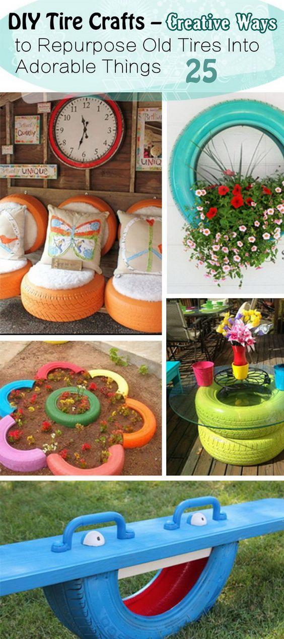 Садовая мебель своими руками: идеи из шин