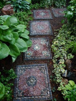 Поделки для сада своими руками: каменные тропы