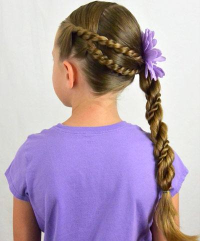 Прически для девочек в школу: косы со жгутами