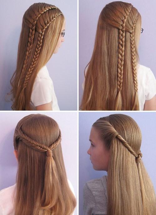 Прически для девочек в школу за 5 минут с косой