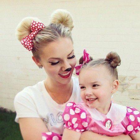 Прически для девочек: ушки Микки