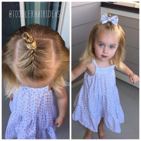 Прически для девочек: коса и пучок